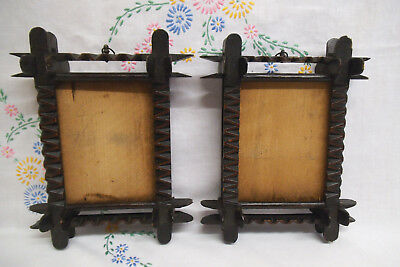 Matching Pair of Rare Early Black Forest Picture Frames