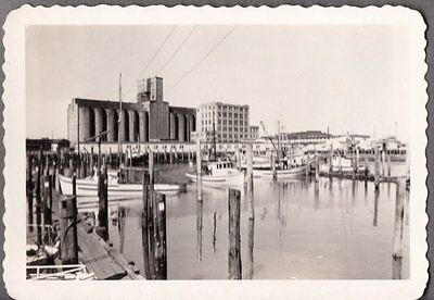 Vintage 1940-50S Astoria Oregon Salmon Trollers Fishing Boats At Dock Old Photo
