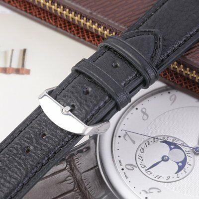 Genuine English Calf Grain Leather Watch Strap Band Mens Padded Buckle