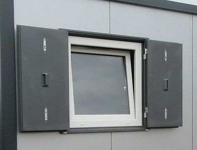 Anti Vandal tilt-turn double glazed window unit ,shipping container, pre fab,