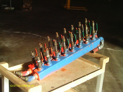 Emi Water Manifold -- Set Of Two With Valves -- Eight (8) Port Each