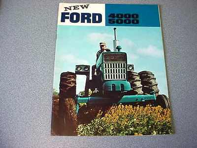 Ford 4000, 5000 Farm Tractor Brochure                       lw