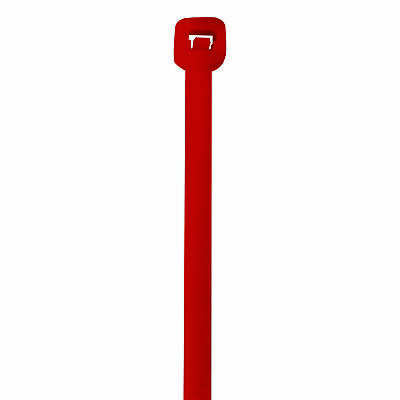 """Box Partners Colored Cable Ties 40# 8"""" Red 1000/Case CT444B"""