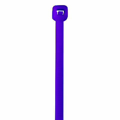 """Box Partners Colored Cable Ties 40# 5 1/2"""" Purple 1000/Case CT433E"""