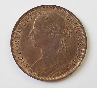 Victoria, penny, 1887, GEF with lustre