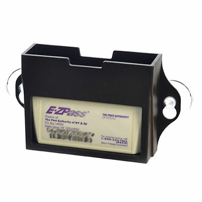 EZ Pass Toll Tag Holder,Fits New & Old Transponder,i-Pass,i-Zoom, Black New