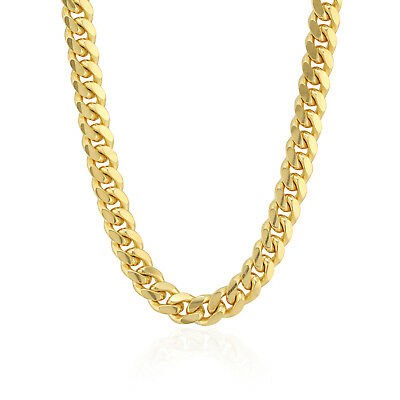 """14k Fully Solid Yellow Gold Miami Cuban Chain Necklace Polished 2.5mm-6mm 18-28"""""""