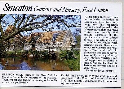 Smeaton Gardens & Nursery , East Linton, with picture of Preston Mill