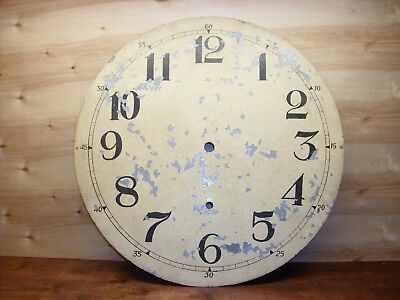Antique Tower, Gallery or Howard? Clock Dial Painted Zinc