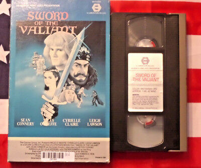 Sword of the Valiant (VHS, 1984) Sean Connery Miles O'Keeffe Rare MGM Big Box