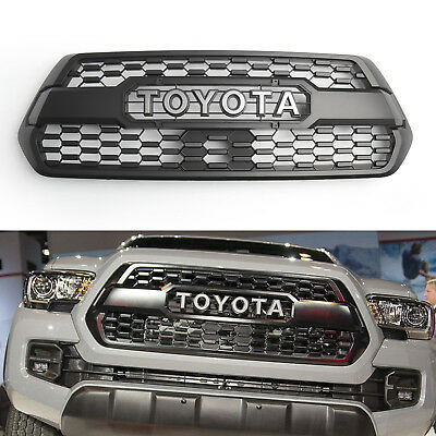 OEM Front Bumper Hood Grill Matte Black For 2016-2018 2017 Toyota Tacoma TRD PRO