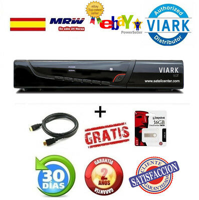 DECODER  VIARK SAT -REGALO CABLE HDMI +USB 16GB (sustituto qviart unic)