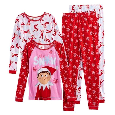 Girls ELF ON THE SHELF 8 10 12 Christmas Holiday PAJAMAS One SET Outfit ~ NWT