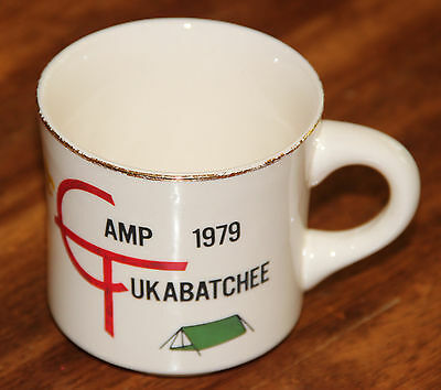 Vintage Boy Scouts Of America Coffee Cup Mug 1979 Camp Tukabatchee GUC