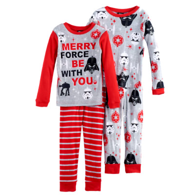 Boys STAR WARS 8 10 12 Christmas Winter Holiday One Set PAJAMAS Outfit DISNEY