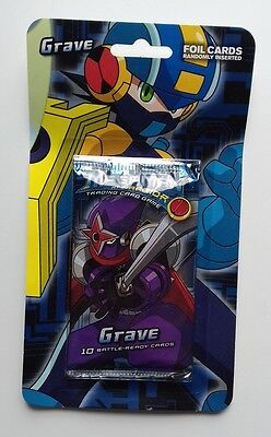 Mega Man NT Warrior Trading Card Game Grave Booster Pack NEU (Megaman anime)