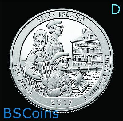 2017 D ATB Quarters - Ellis Island, NJ - BU ONE Coin - In Stock - Ship TODAY!!