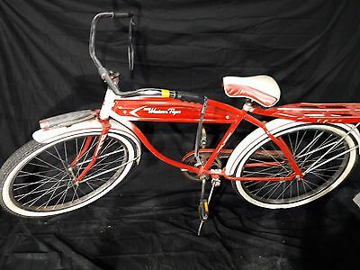 "Vintage Western Flyer MENS 26"" Boys Bicycle Bike RED Gas Tank Style 50's"