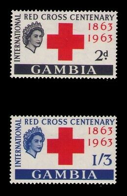1963 Gambia stamps, Red Cross SC# 173-4 Cpl.MLH set
