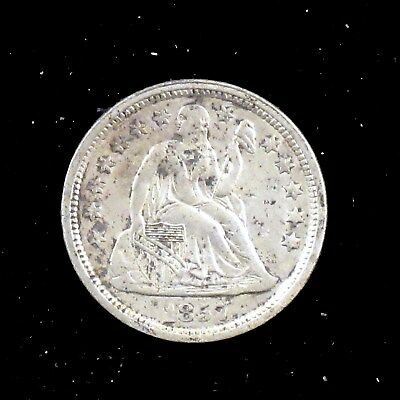 1857 (P) Extremely Fine (XF) Seated Liberty Silver Dime - sc89