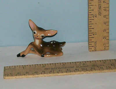Spotted FAWN or YOUNG DEER Figure /FIGURINE - Pottery or Ceramic - Unmarked