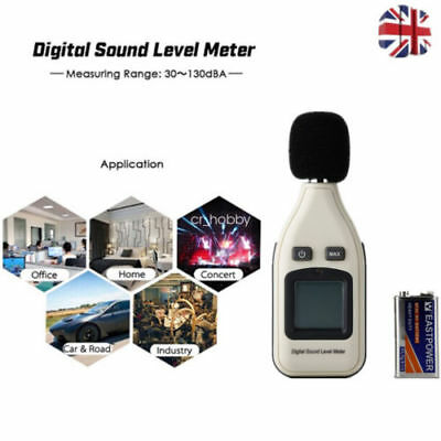 30-130dB LCD Digital Sound Level Meter Noise Tester Decibel Tester w/ Battery