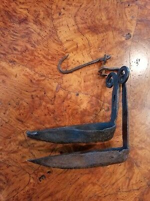 Antique Wrought Iron Double Whale Lamp