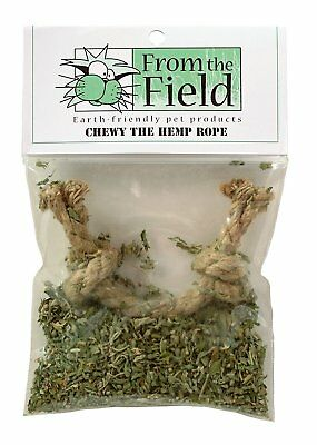 From The Field Organic Catnip Chewy The Hemp Rope Teething. Free Ship To The Usa