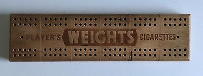 Wooden Vintage Players Weights Cigarettes Cribbage Board