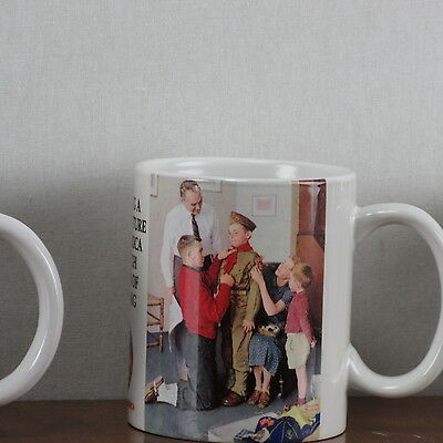 Coffee Mug Saturday Evening Post Norman Rockwell Boy Scouts Of America Tea Cup