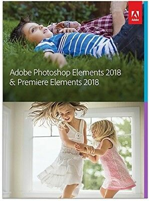 Adobe Photoshop Elements 2018 & Premiere Elements 2018 Brand New (65281603)