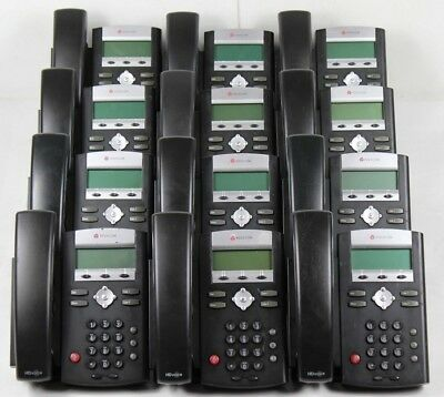 Lot of 12 Polycom SoundPoint IP 335 POE Office Phones