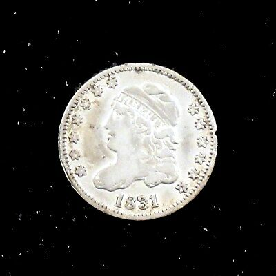 1831 Very Fine (VF) Capped Bust Silver Half Dime - hd72
