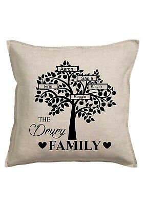 PERSONALISED CUSHION /COVER  * ANY NAME ADDED * 38 x 38 cms  *family tree (2)