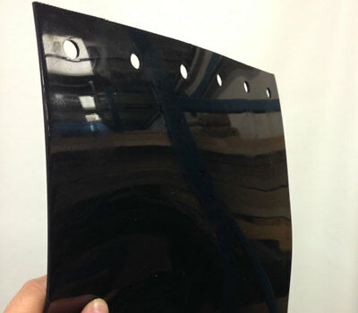 Vinyl Strips Pack with 6 Black Opaque Strip 12in. width X 160in. height
