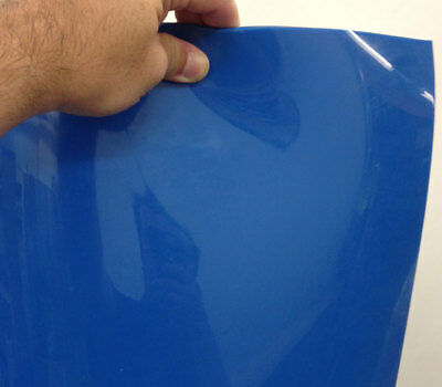 Vinyl Strips Pack with 6 Blue Opaque Strip 8 in. width X 90in. height