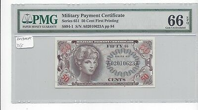 MPC Series 651  50 cents PMG  66EPQ  GEM UNC