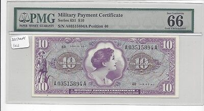 MPC Series 651  10 Dollars  PMG  66EPQ   GEM UNC