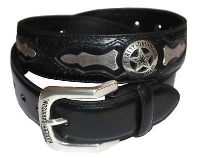Harley-Davidson Mens Deputy Leather Belt HDMBT10006