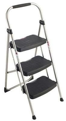 Werner 223-6 StepRight 225-Pound Silver Black Type II 3 Step Stool Steel 3-foot