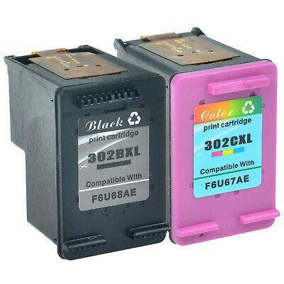 Remanufactured 302XL Black & Colour Ink Cartridge Combo for HP Envy 4520 Printer