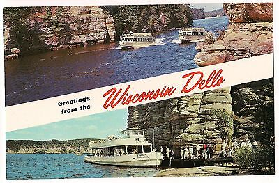 Greetings from the wisconsin dells name band postcard vintage unused greetings from the wisconsin dells name band postcard vintage unused m4hsunfo