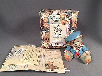 Cherished Teddies- Marty ' I'll Always Be There For You' 1998 Enesco Gray