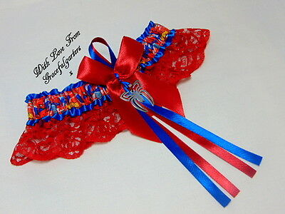 Spiderman Lace Bridal Wedding Garter. peterparker. maryjanewatson.
