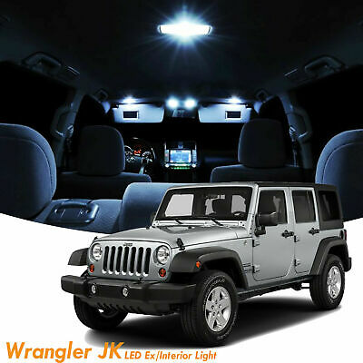 6x License Plate Interior Led Light Package Kit For Jeep