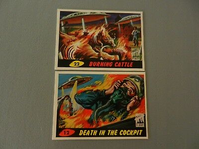 Topps Mars Attacks First Day Issue #12 Death in the Cockpit #22 Burning Cattle