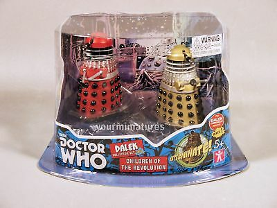 Underground Toys Doctor Who 3.75″ Dalek 2-Pack Dalek Collector Sets 1 & 3 Avail