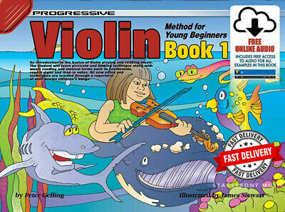 PROGRESSIVE VIOLIN METHOD FOR YOUNG BEGINNERS BOOK 1 with CD - CHILDREN'S BOOK