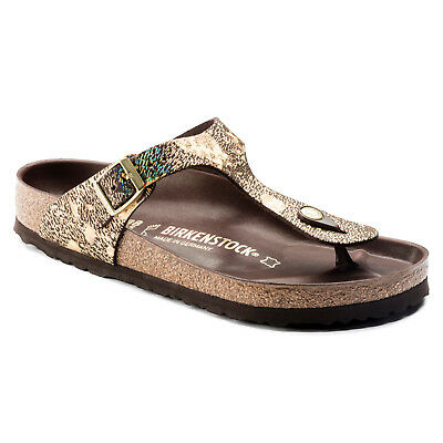 Birkenstock Leather Gizeh Lux $249rrp Spotted Metallic Brown 1006883