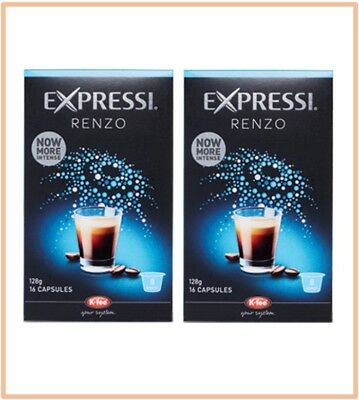 32 Capsules (2 boxes) Aldi Expressi Coffee Pods Renzo - Intensity 8